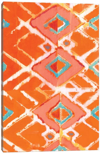 Orange Tribal I Canvas Art Print