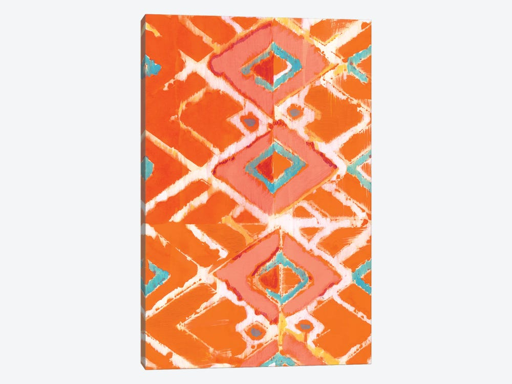 Orange Tribal I by Jodi Fuchs 1-piece Canvas Art
