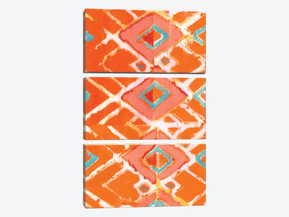 Orange Tribal I by Jodi Fuchs 3-piece Canvas Artwork