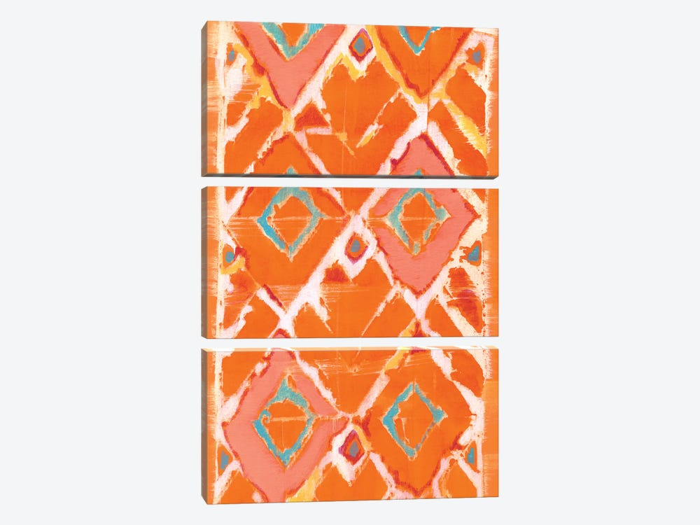 Orange Tribal II by Jodi Fuchs 3-piece Art Print