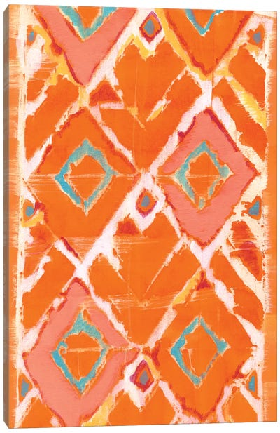 Orange Tribal II Canvas Art Print