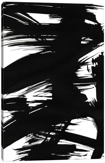 Black Bamboo I Canvas Art Print