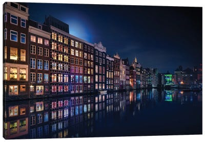 Amsterdam Windows Colors Canvas Art Print