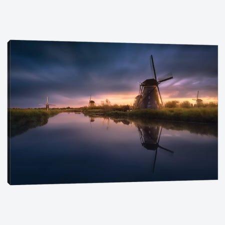 Kinderdijk Windmills Canvas Print #JGA11} by Jesús M. García Canvas Art Print