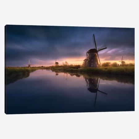 Kinderdijk Windmills Canvas Print #JGA11} by Jesús M. García Canvas Art Print
