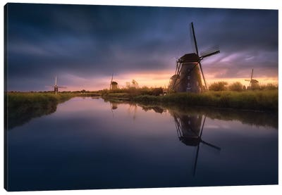 Kinderdijk Windmills Canvas Art Print