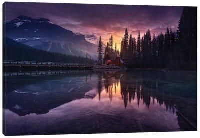 Lake House Sunrise Canvas Art Print