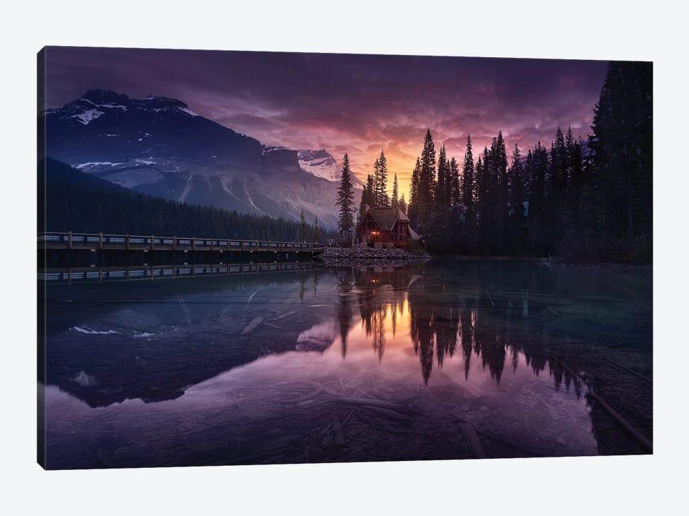Lake House Sunrise by Jesús M. García 1-piece Canvas Print