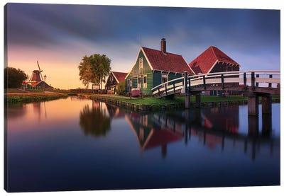 Zaanse Schans Green House Canvas Art Print