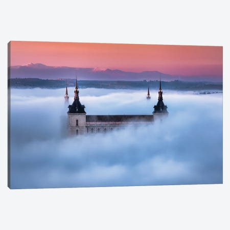 Toledo City Foggy Sunset Canvas Print #JGA17} by Jesús M. García Canvas Art
