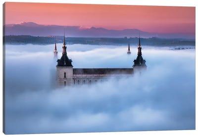 Toledo City Foggy Sunset Canvas Art Print