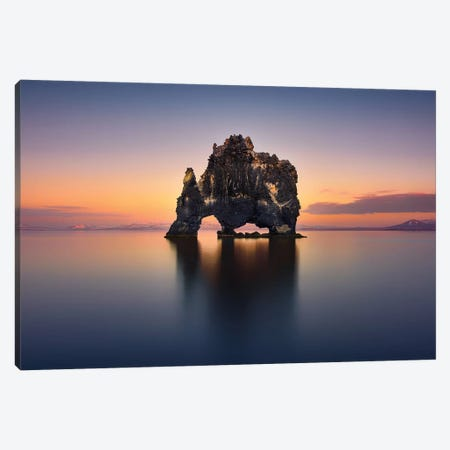 Hvitserkur - The Stone Rhino Canvas Print #JGA5} by Jesús M. García Canvas Art