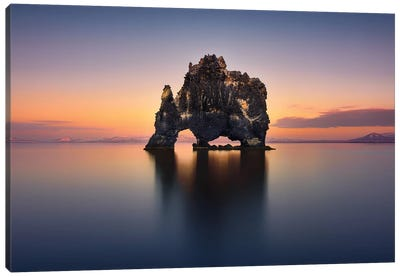 Hvitserkur - The Stone Rhino Canvas Art Print