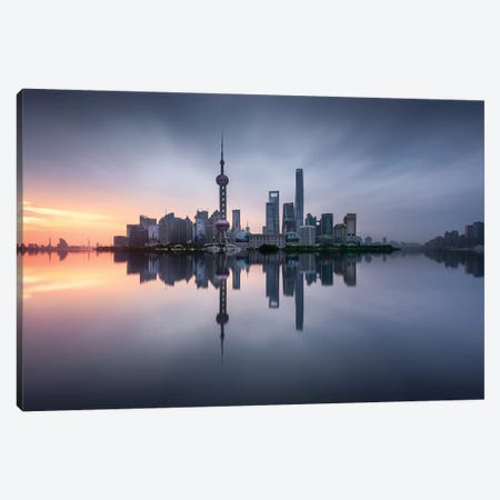 Good Morning Shanghai Canvas Print #JGA7} by Jesús M. García Canvas Artwork