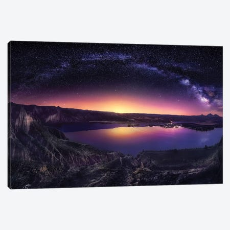 Milky Way Over Las Barrancas 2016 3-Piece Canvas #JGA8} by Jesús M. García Canvas Art Print