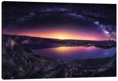 Milky Way Over Las Barrancas 2016 Canvas Art Print