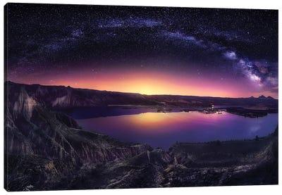 Milky Way Over Las Barrancas 2016 Canvas Art Print