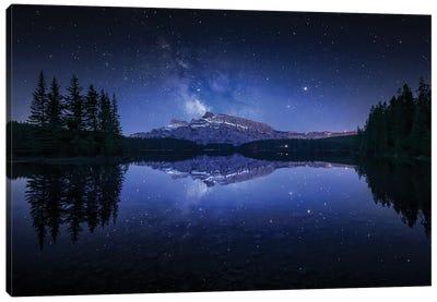 Perfect Two Jack Lake Reflection Canvas Art Print