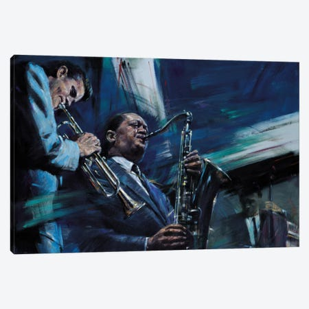 Blue Cool Canvas Print #JGK1} by Jin G. Kam Canvas Art Print