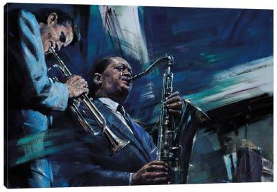 Blue Cool Canvas Art Print