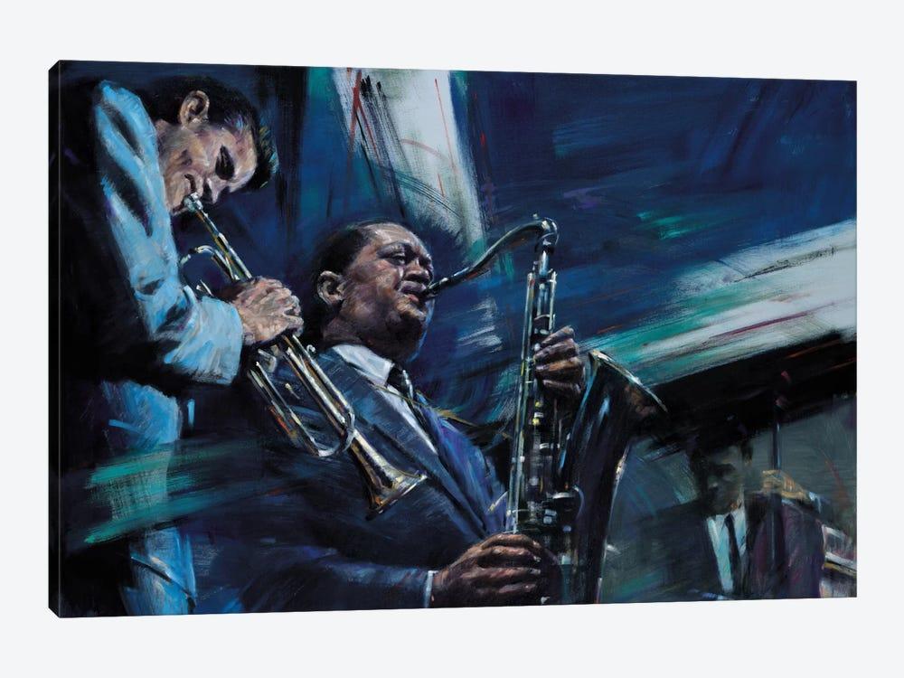 Blue Cool by Jin G. Kam 1-piece Canvas Art Print