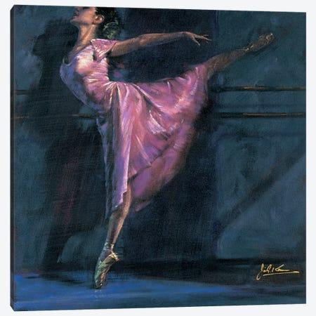 Deep Pink Canvas Print #JGK2} by Jin G. Kam Art Print