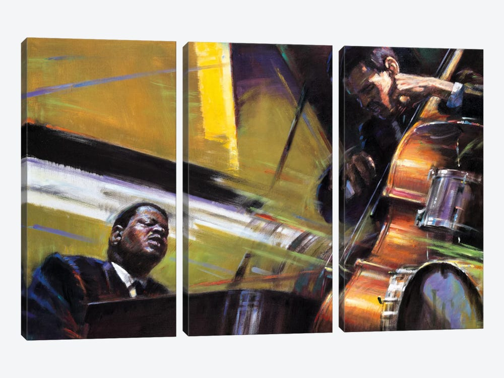 Trio by Jin G. Kam 3-piece Canvas Art Print