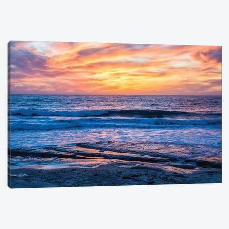 A La Jolla Sunset Canvas Print #JGL115} by Joseph S. Giacalone Canvas Artwork