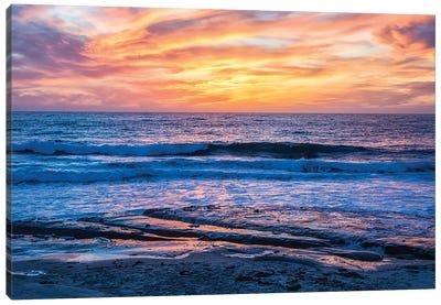 A La Jolla Sunset Canvas Art Print