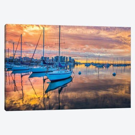 San Diego Harbor In Orange Canvas Print #JGL119} by Joseph S. Giacalone Canvas Art Print