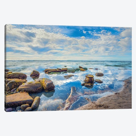 Resting In Blue Canvas Print #JGL136} by Joseph S. Giacalone Canvas Artwork