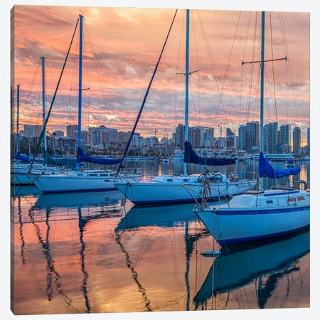 From Harbor To Coast Diptych Canvas Print #JGL137} by Joseph S. Giacalone Canvas Artwork
