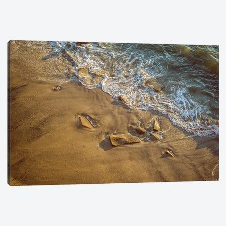 Half Sand Half Surf Canvas Print #JGL157} by Joseph S. Giacalone Canvas Artwork