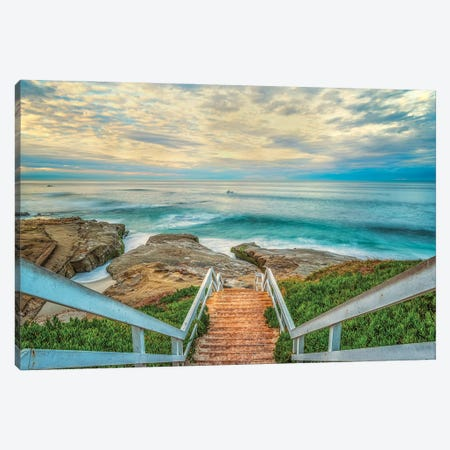 Lets Go Down To Windansea Beach Canvas Print #JGL172} by Joseph S. Giacalone Art Print
