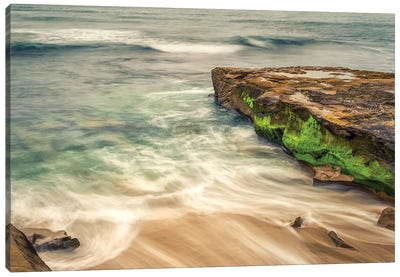 A Splash Of Green Canvas Art Print