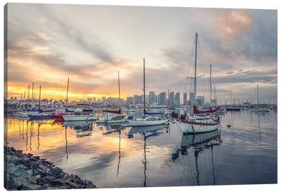 Calm Harbor Morning Canvas Art Print