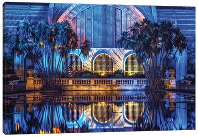 Botanical Building Blues Canvas Art Print