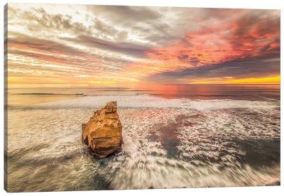 Bird Rock Sunset Canvas Art Print