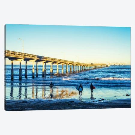 Surf'S Up At Ocean Beach Canvas Print #JGL205} by Joseph S. Giacalone Canvas Wall Art