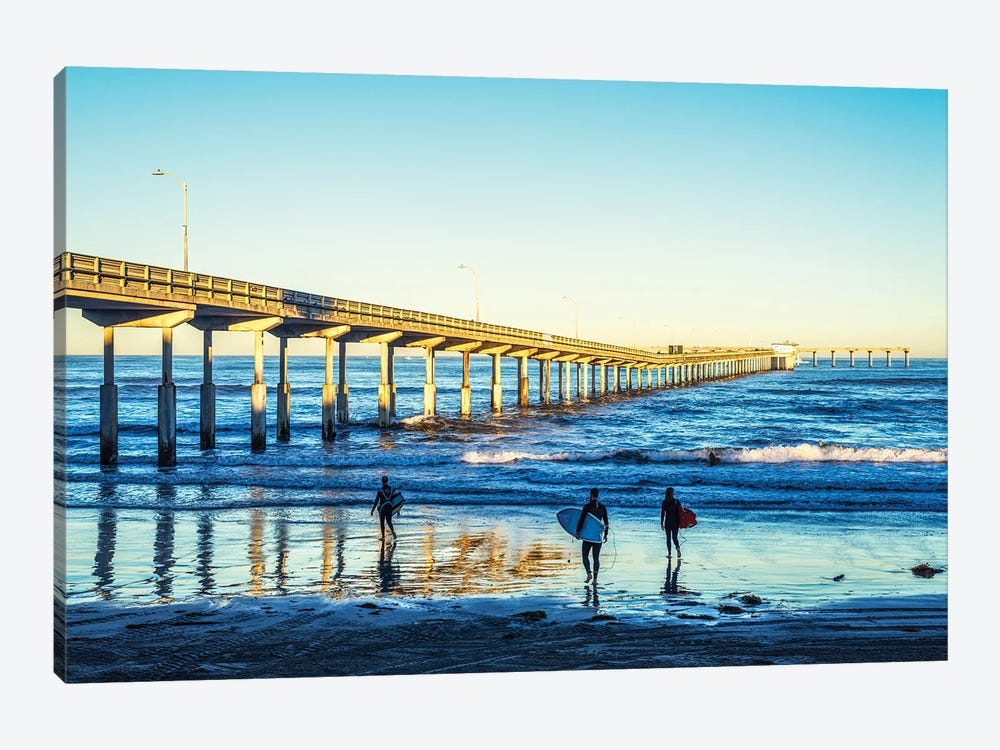 Surf'S Up At Ocean Beach by Joseph S. Giacalone 1-piece Canvas Wall Art