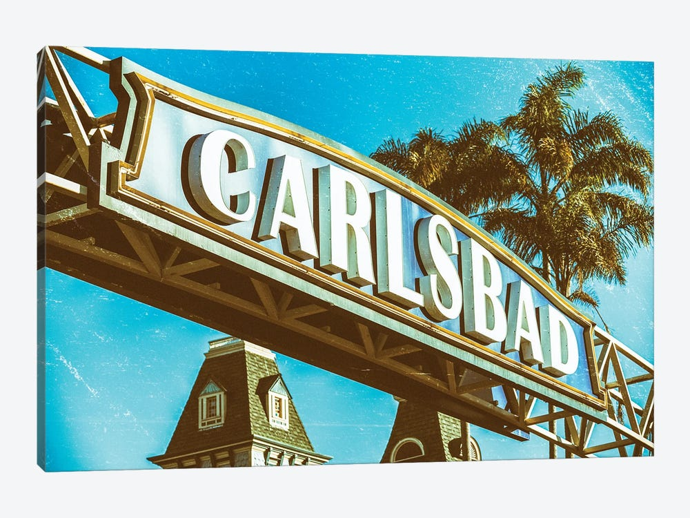 Vintage Carlsbad by Joseph S. Giacalone 1-piece Canvas Print