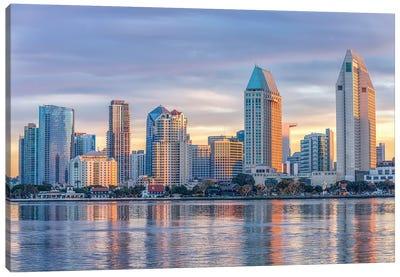Pastel City, San Diego Canvas Art Print