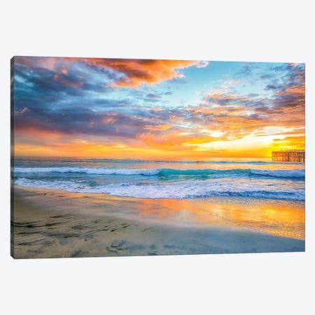 Mission Beach Summer Sunset Canvas Print #JGL25} by Joseph S. Giacalone Canvas Artwork