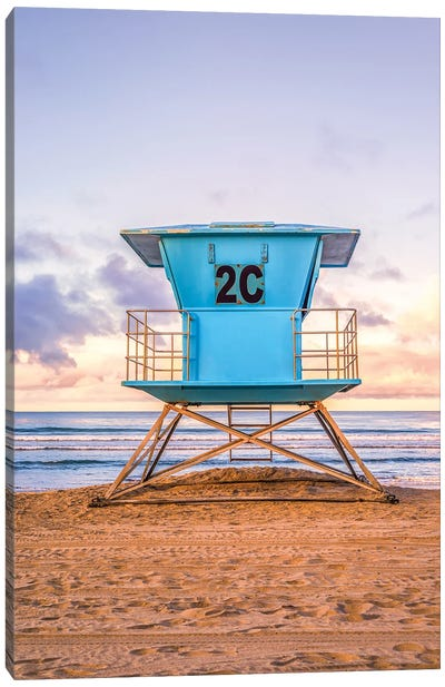 2C At Coronado Central Beach Canvas Art Print