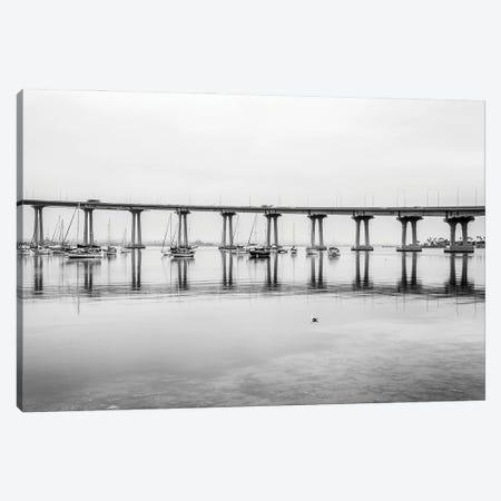 Coronado Bridge In Reflection Canvas Print #JGL35} by Joseph S. Giacalone Canvas Print