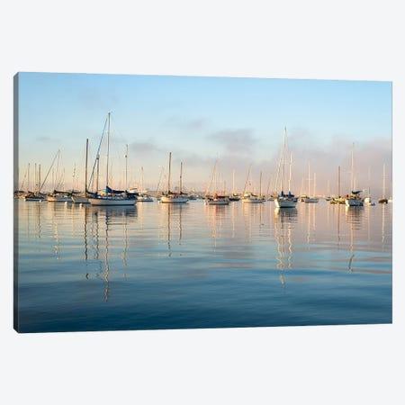 Serene Harbor Morning Canvas Print #JGL5} by Joseph S. Giacalone Canvas Print