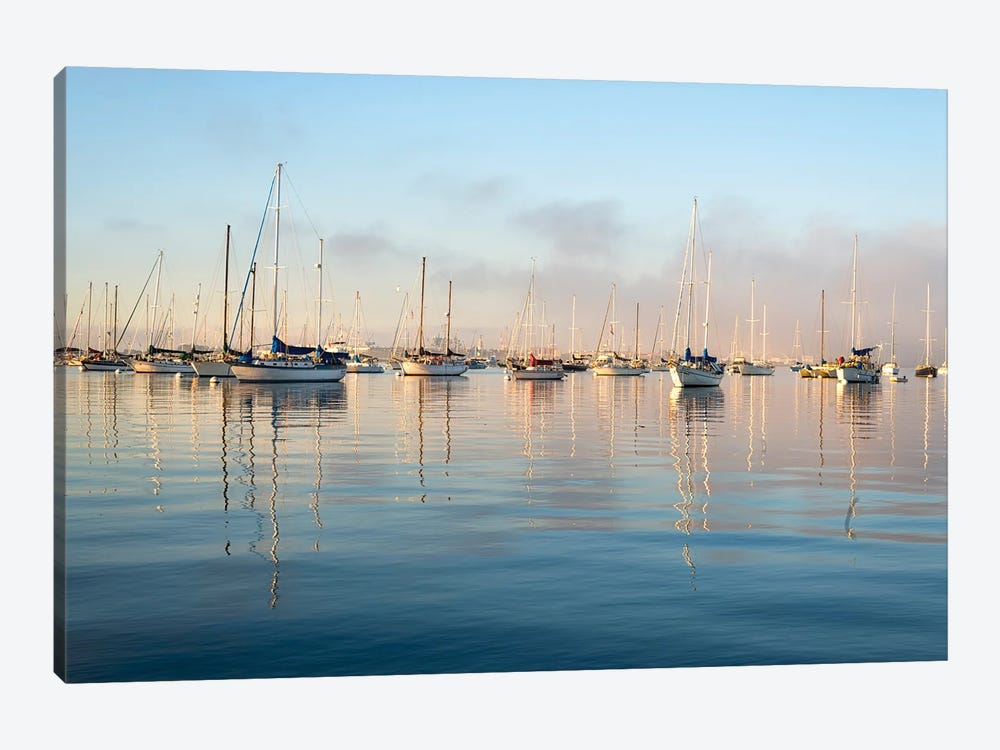Serene Harbor Morning by Joseph S. Giacalone 1-piece Canvas Art