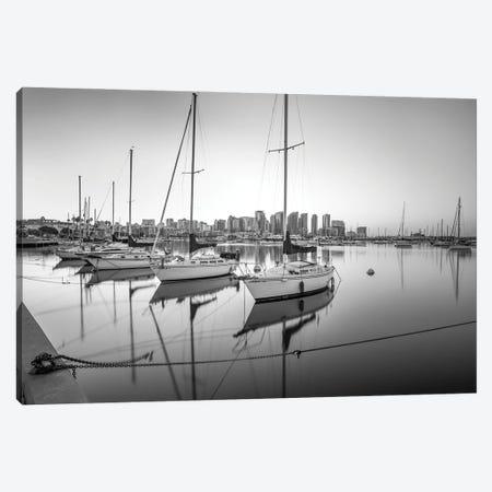 Harbor Monochrome Calm I Canvas Print #JGL62} by Joseph S. Giacalone Art Print