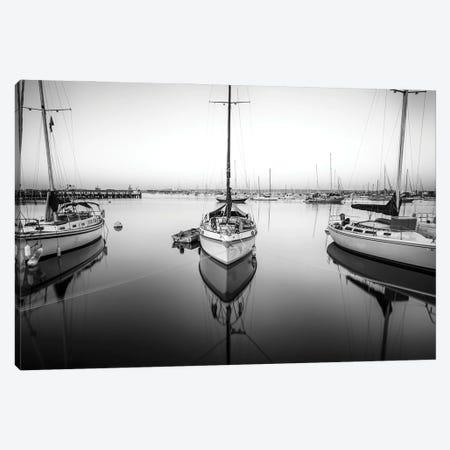Harbor Monochrome Calm II Canvas Print #JGL63} by Joseph S. Giacalone Canvas Print