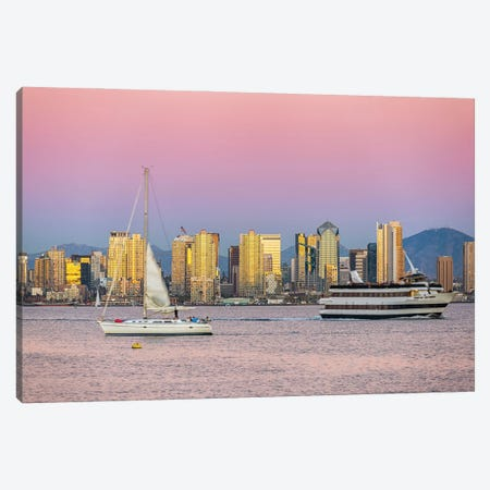 Passing By A Golden City Canvas Print #JGL65} by Joseph S. Giacalone Canvas Artwork